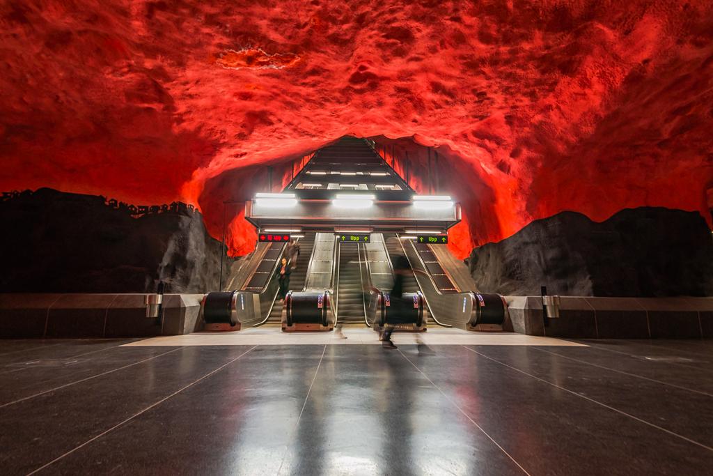 Станция солна центрум в стокгольмском метро