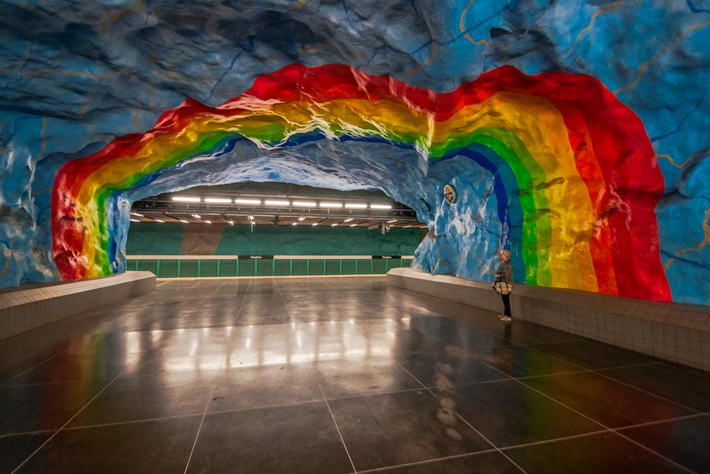 Станция метро Стадион в метро Стокгольма