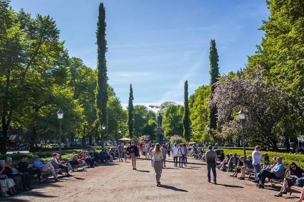 Главная аллея Хельсинки