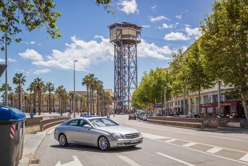 Канатная дорога в Барселонете