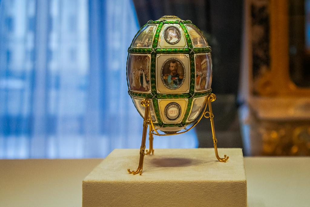 15-я годовщина царствования - яйцо в музее Фаберже
