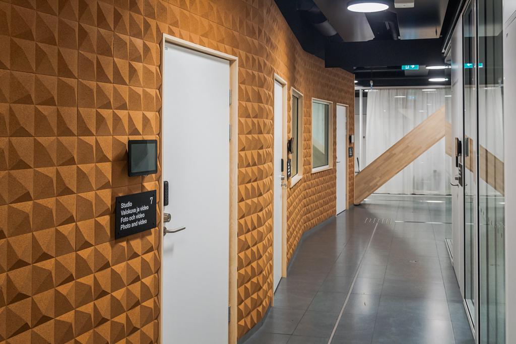 Студии звукозаписи в библиотеке Oodi в Хельсинки