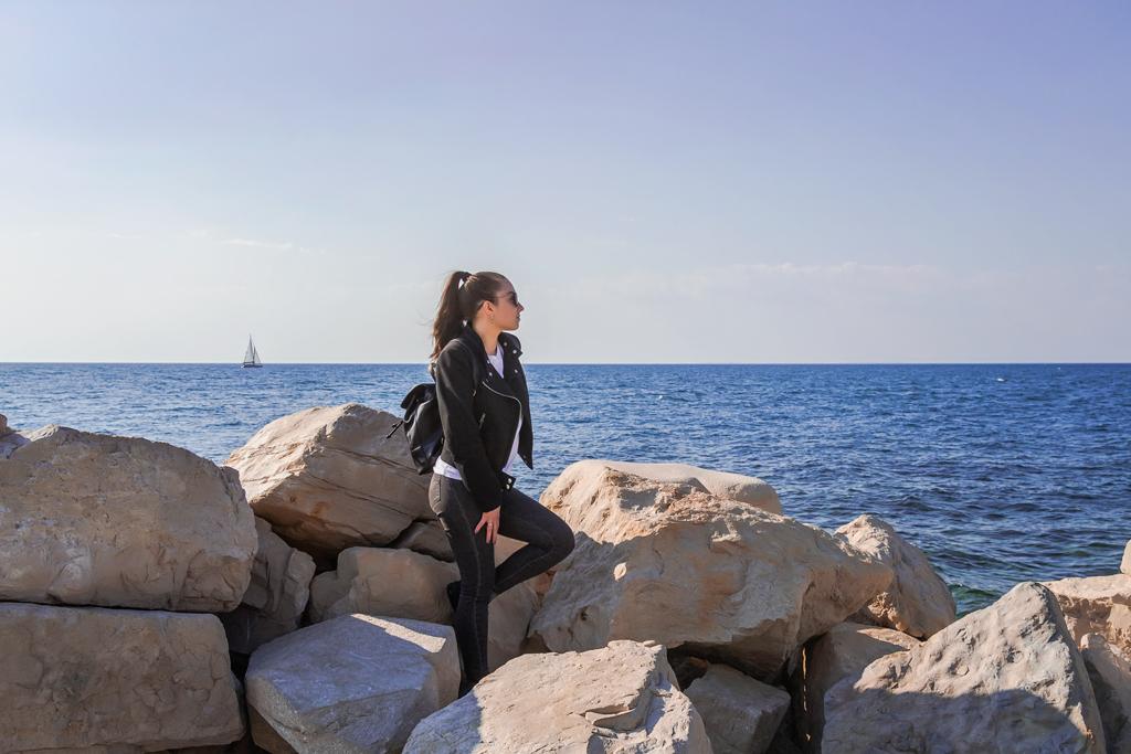 Набережная Пирана и цементные пляжи