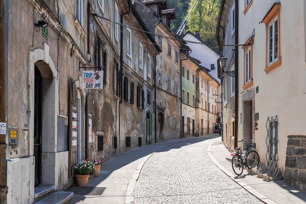 Любляна старая улочка столицы Словении
