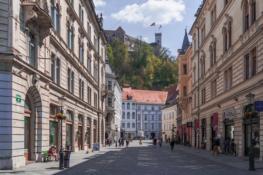 Любляна, замок над городом