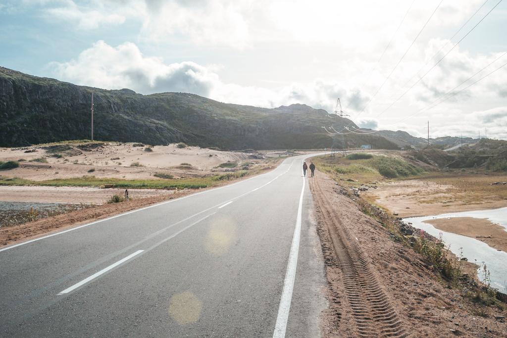 Асфальтированная дорога Териберка