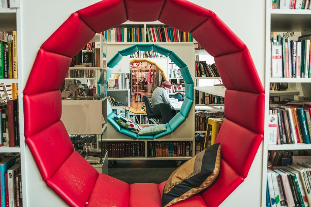 Необычный интерьер библиотека им. Гоголя