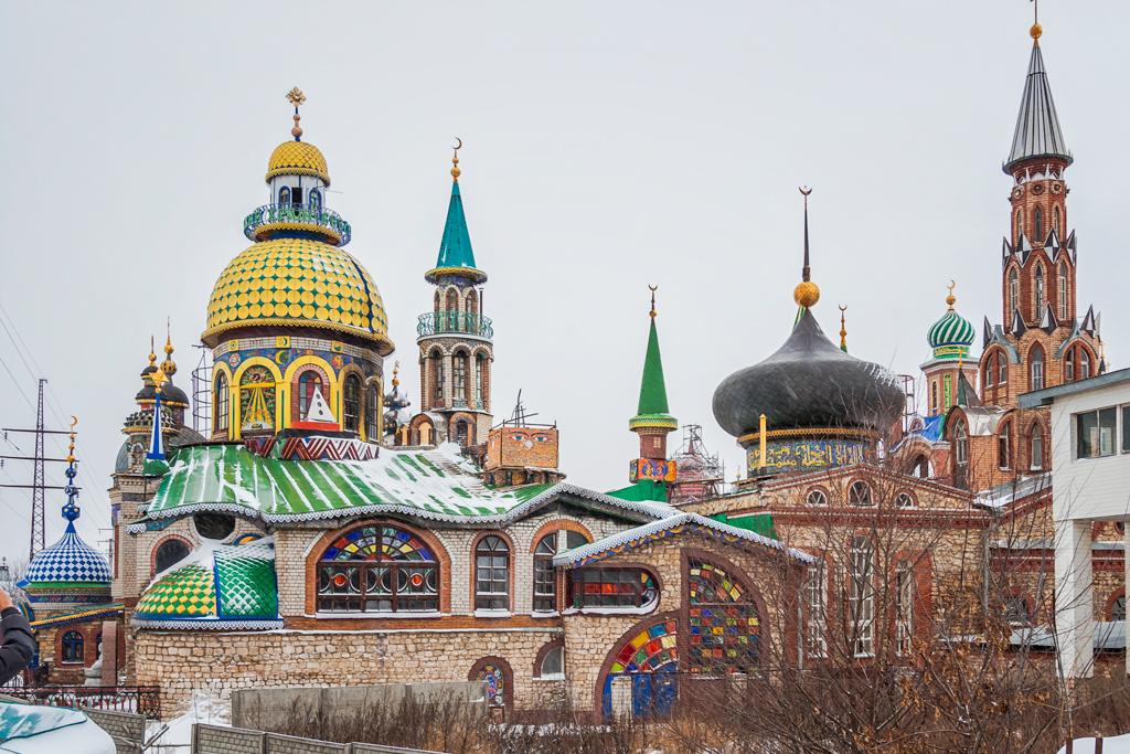 Храм Всех Религий. Казань. Зима