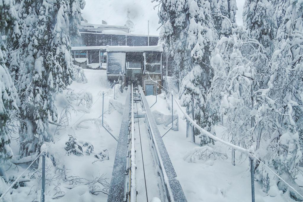 Подъемник от парковки к центру парка Коли, Финляндия