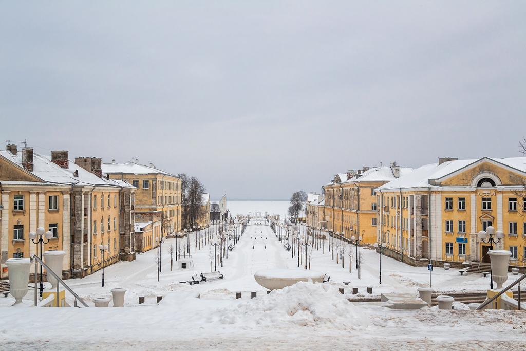 Новая аллея в городе Силламяэ, Эстония