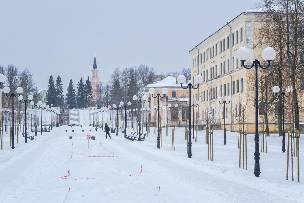 Новая набережная и прогулочная аллея в эстонском Силламяэ