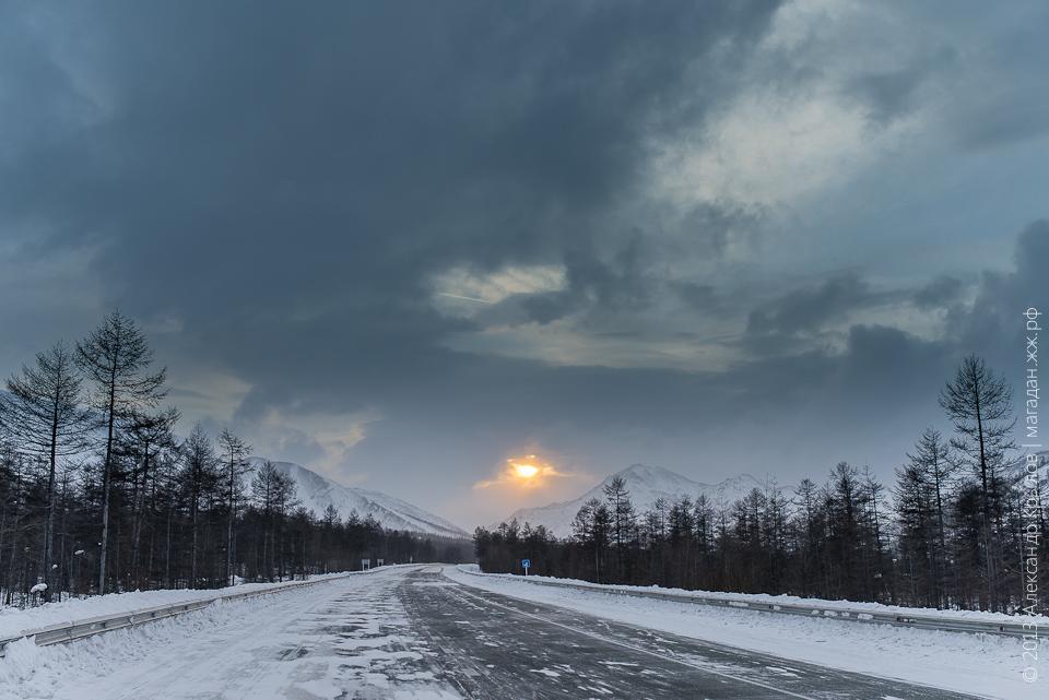 Магаданская область, Хасынский район, пос. Карамкен. Декабрь 2013
