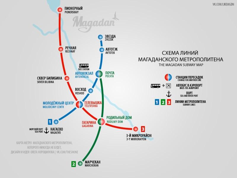 метро в Магадане. Идеи и Дизайн Олега Хорошилова
