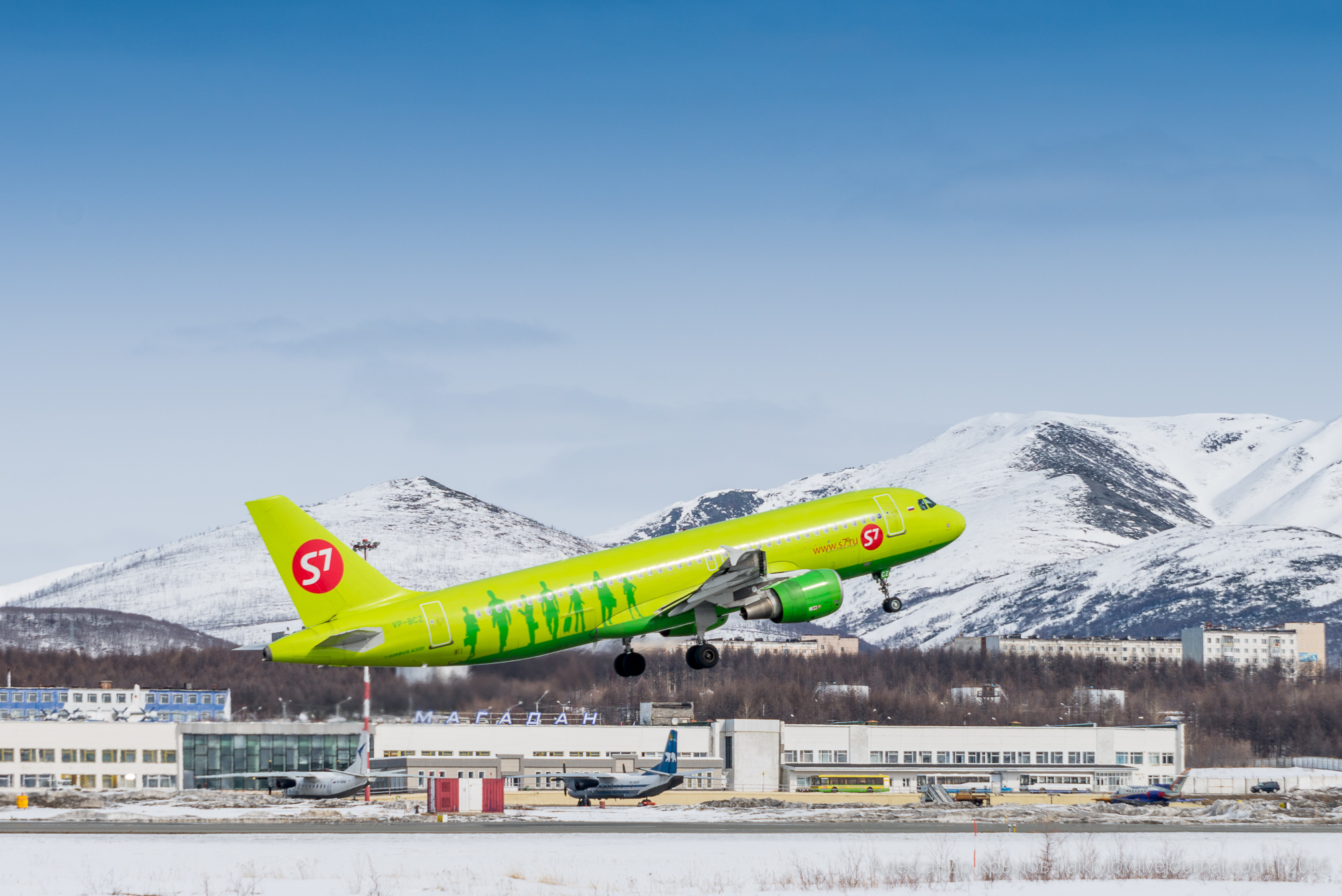 S7 Airlines ✈ S7 3512  🛫 GDX–IKT–OVB