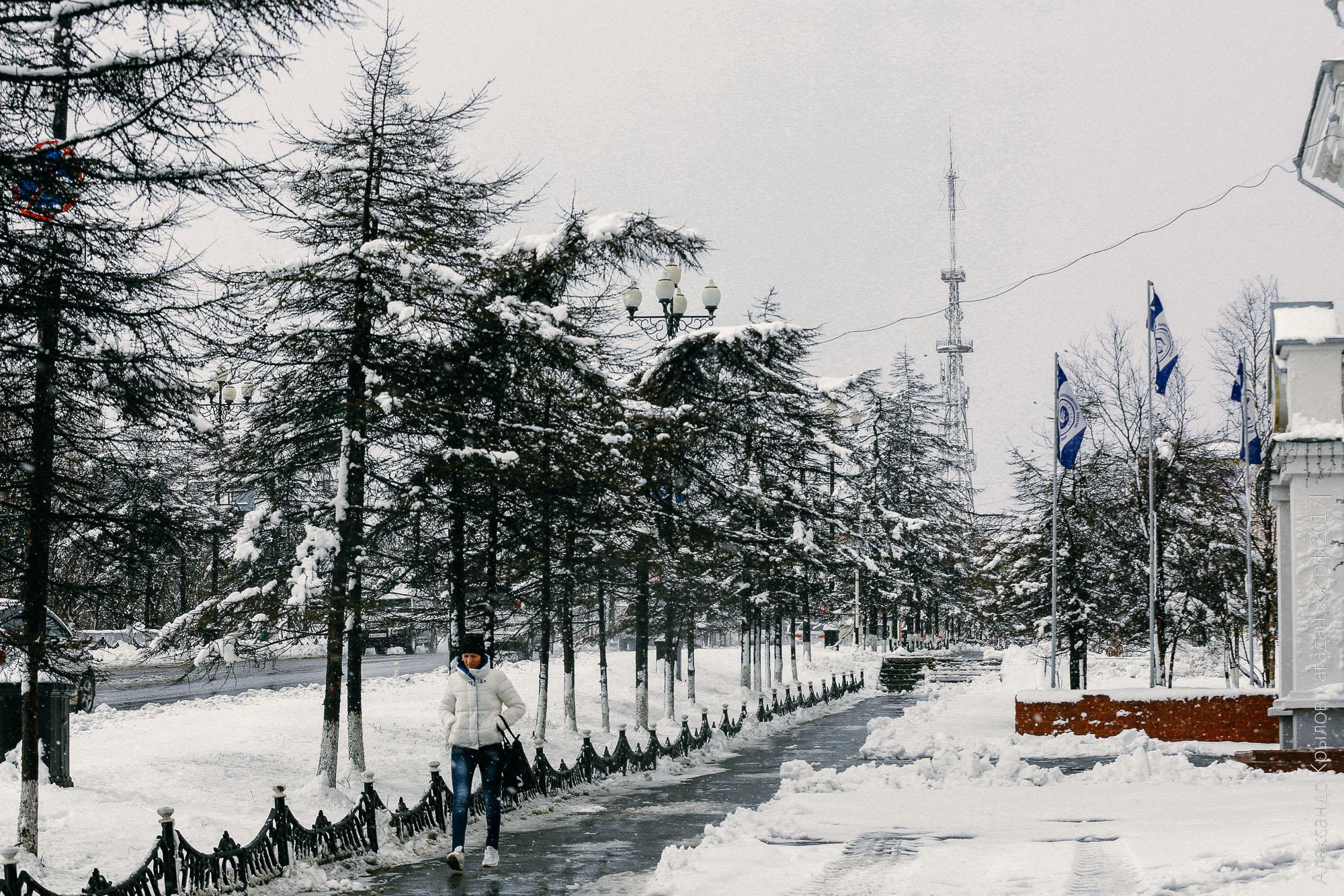 Снегопад в Магадане 19 мая. Александр Крылов