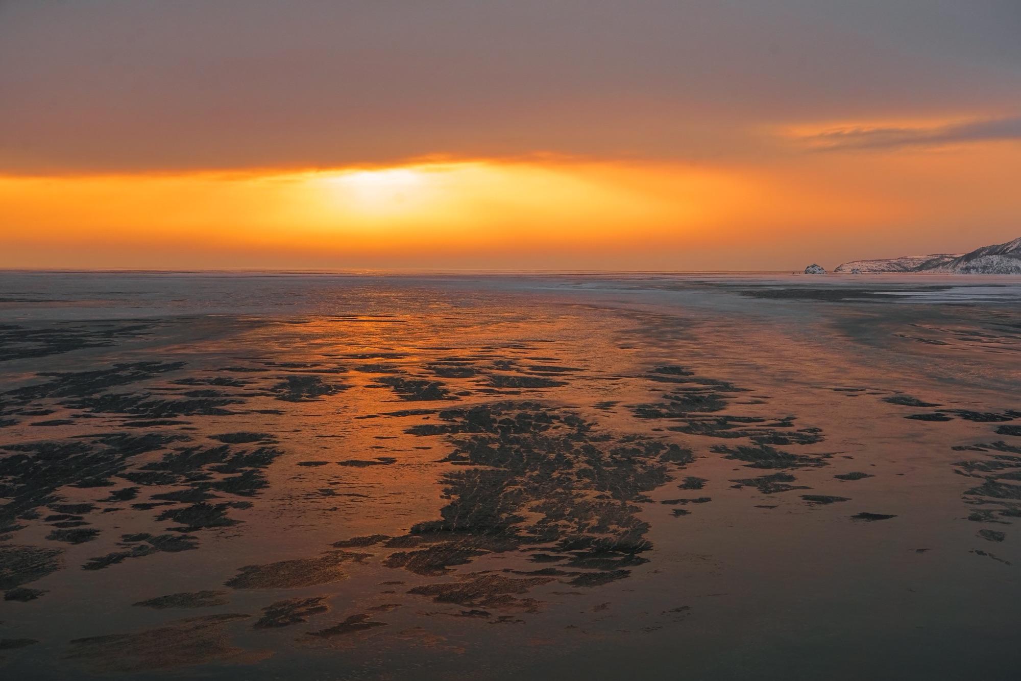 Застывающее море