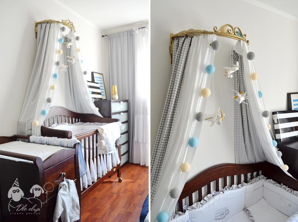 Как сшить балдахин на детской кроватью