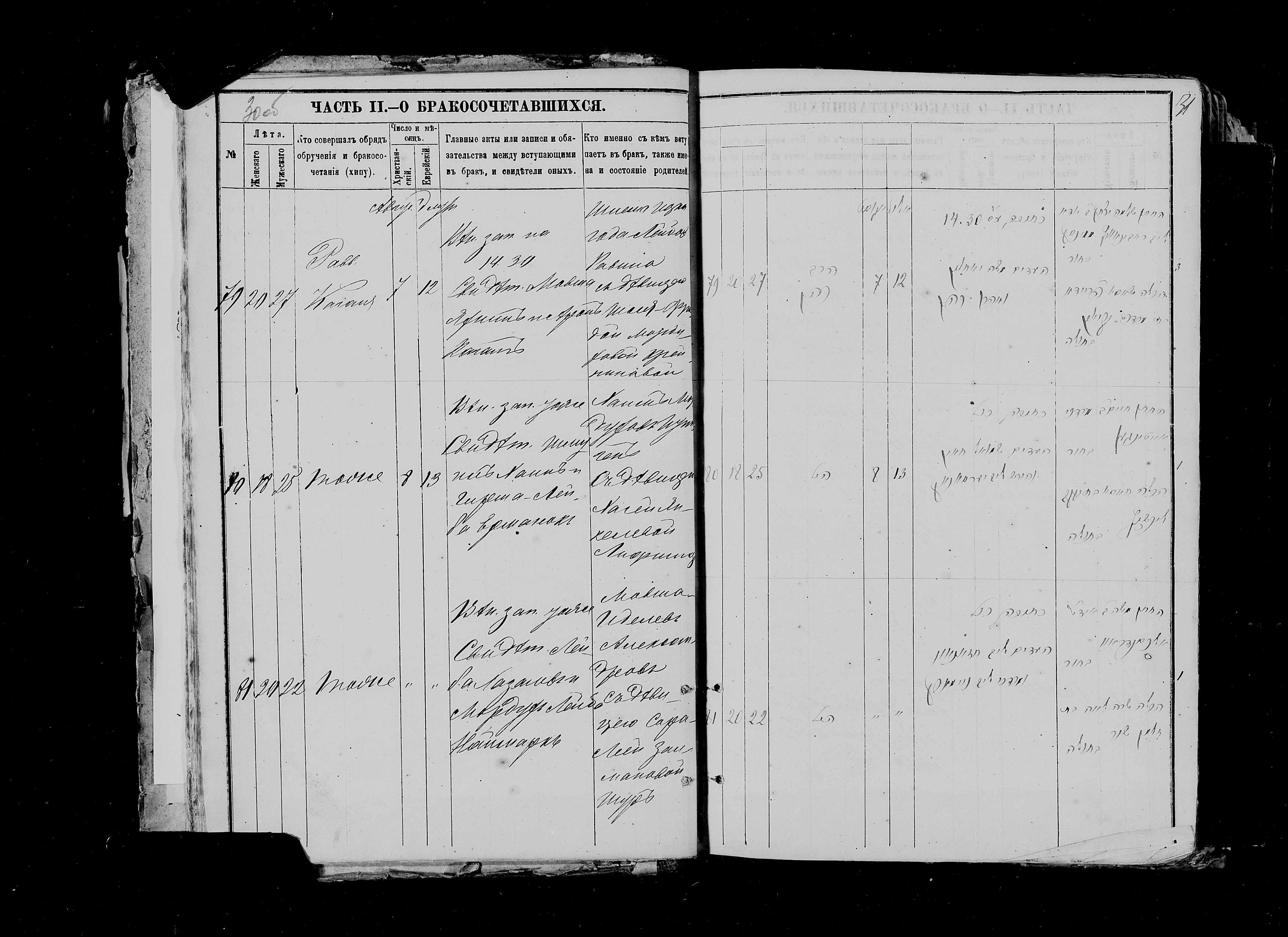 Мовша Иделев Александров с Сарой-Леей Залмановной Шур 8 августа 1880, запись 81, пленка 007766484, снимок 288