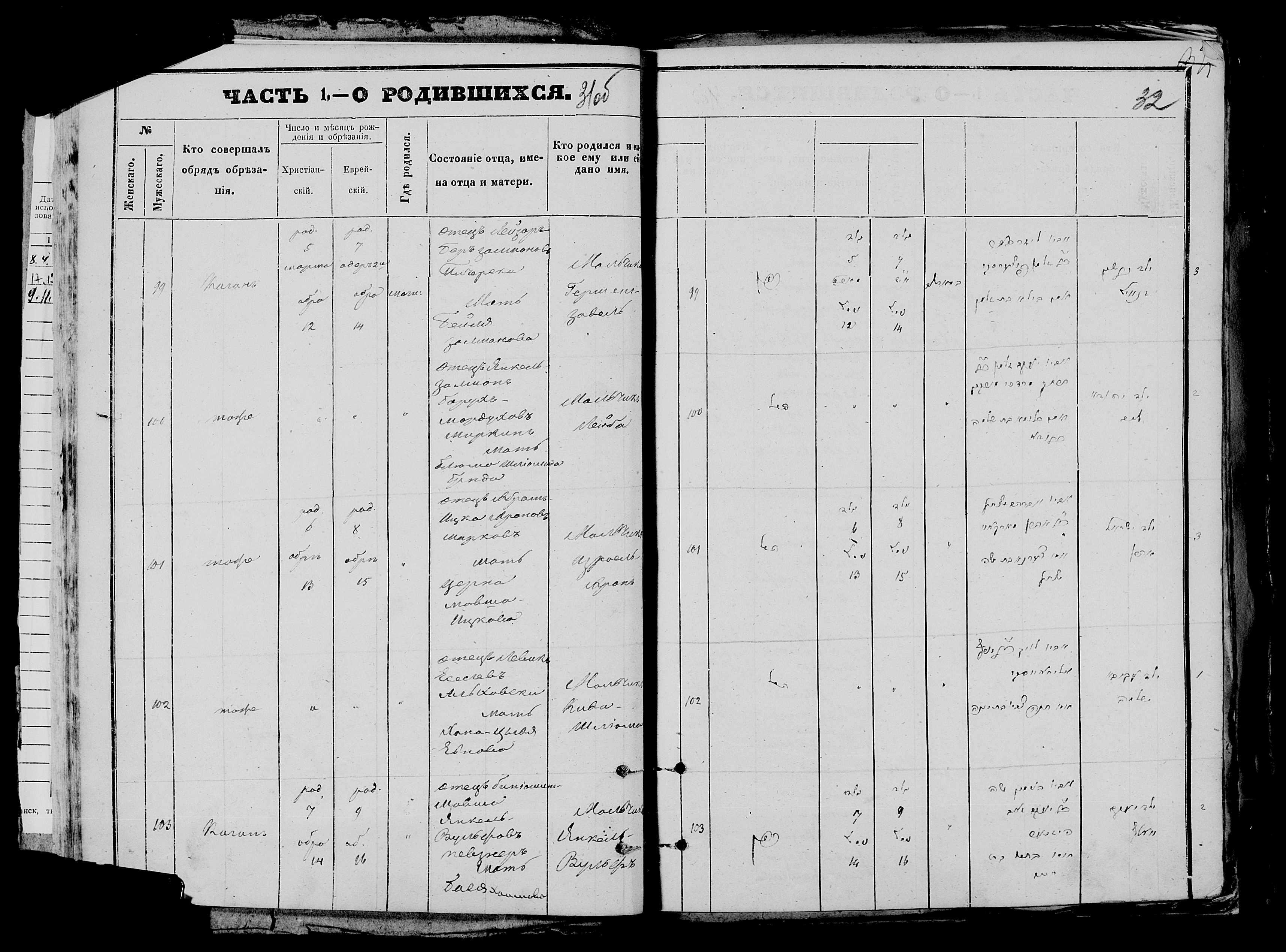 Лейба Янкель-Залманович, сына Борух-Мордуха Миркин р. 5 марта 1872, запись 100, пленка 007766480, снимок 755