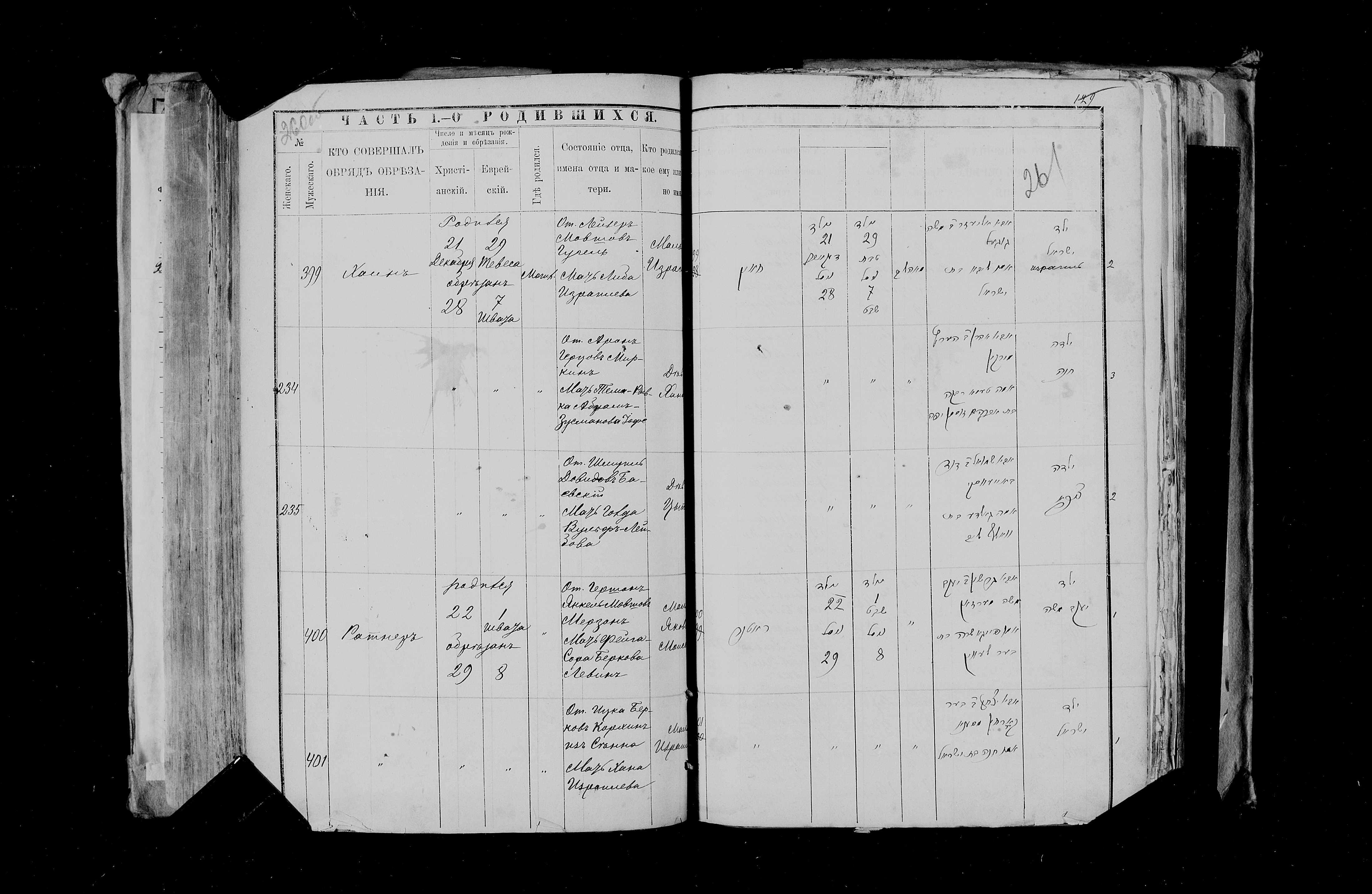 Хана Миркина 28 декабря 1888, запись 234, пленка 007766484, снимок 108