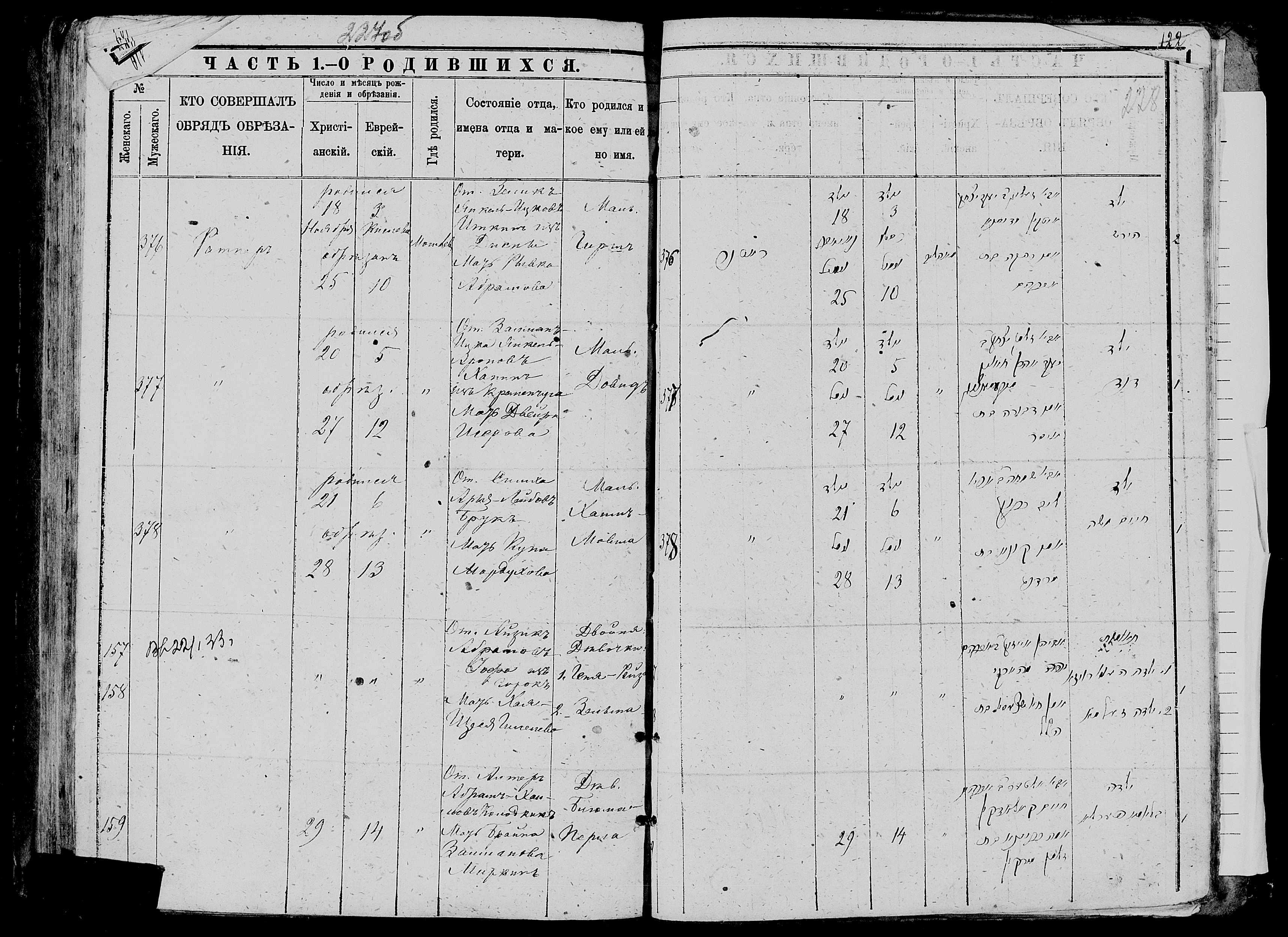 Блюма-Перла Колодкина 29 ноября 1886, запись 159, пленка 007766483, снимок 605