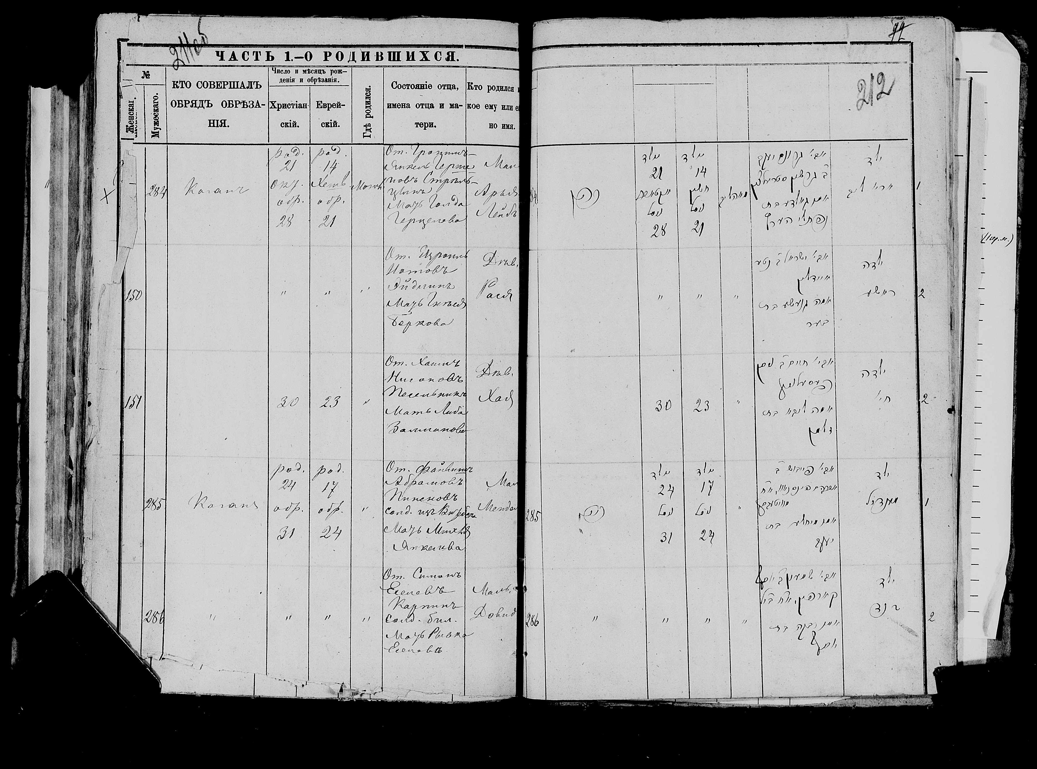 Арья-Лейб Гроним-Янкелевич Стрельцын 21 октября 1884, запись 284, пленка 007766483, снимок 343