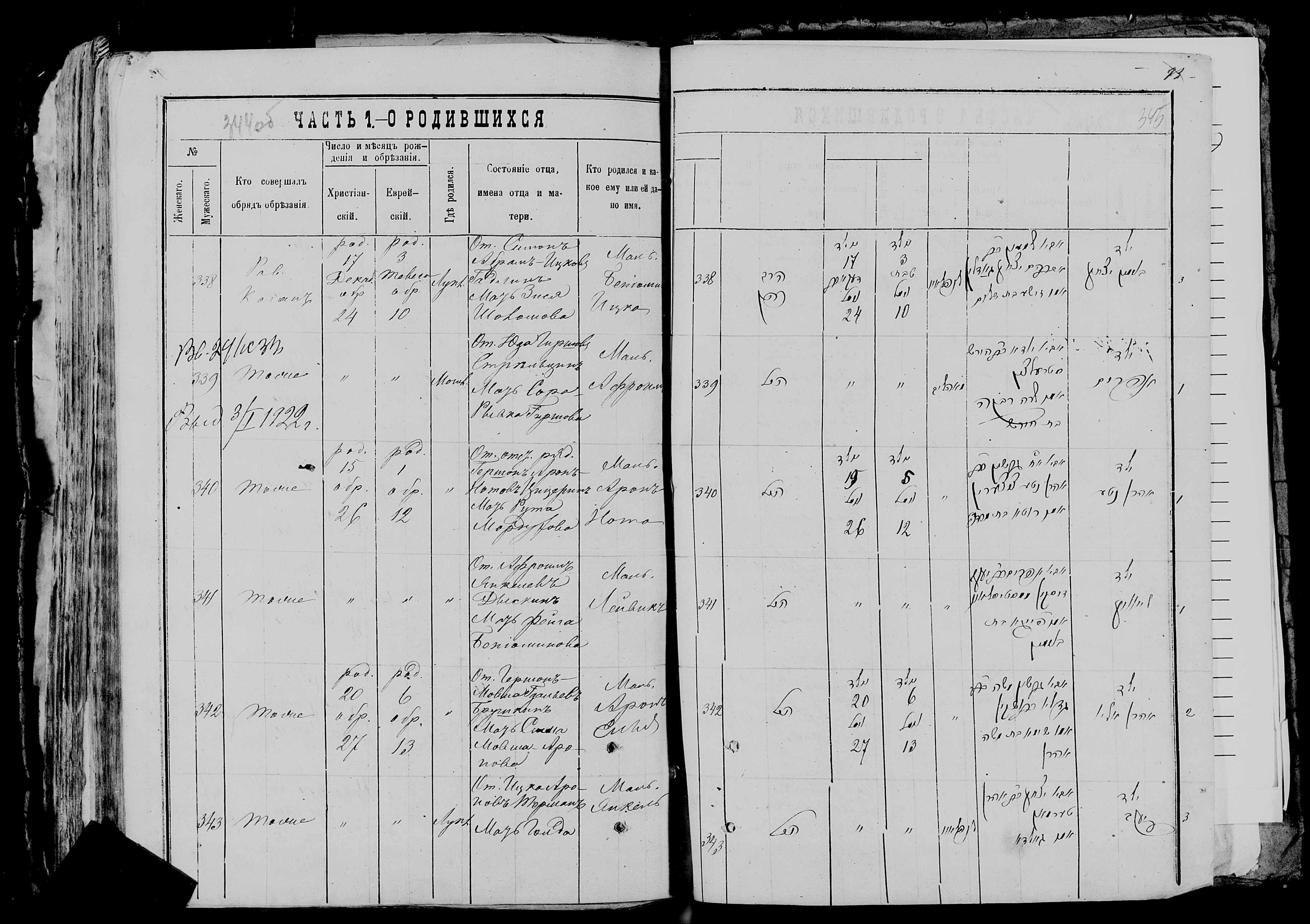 Афроим Юдович Стельцын 17 декабря 1878, запись 339, пленка 007766481, снимок 876