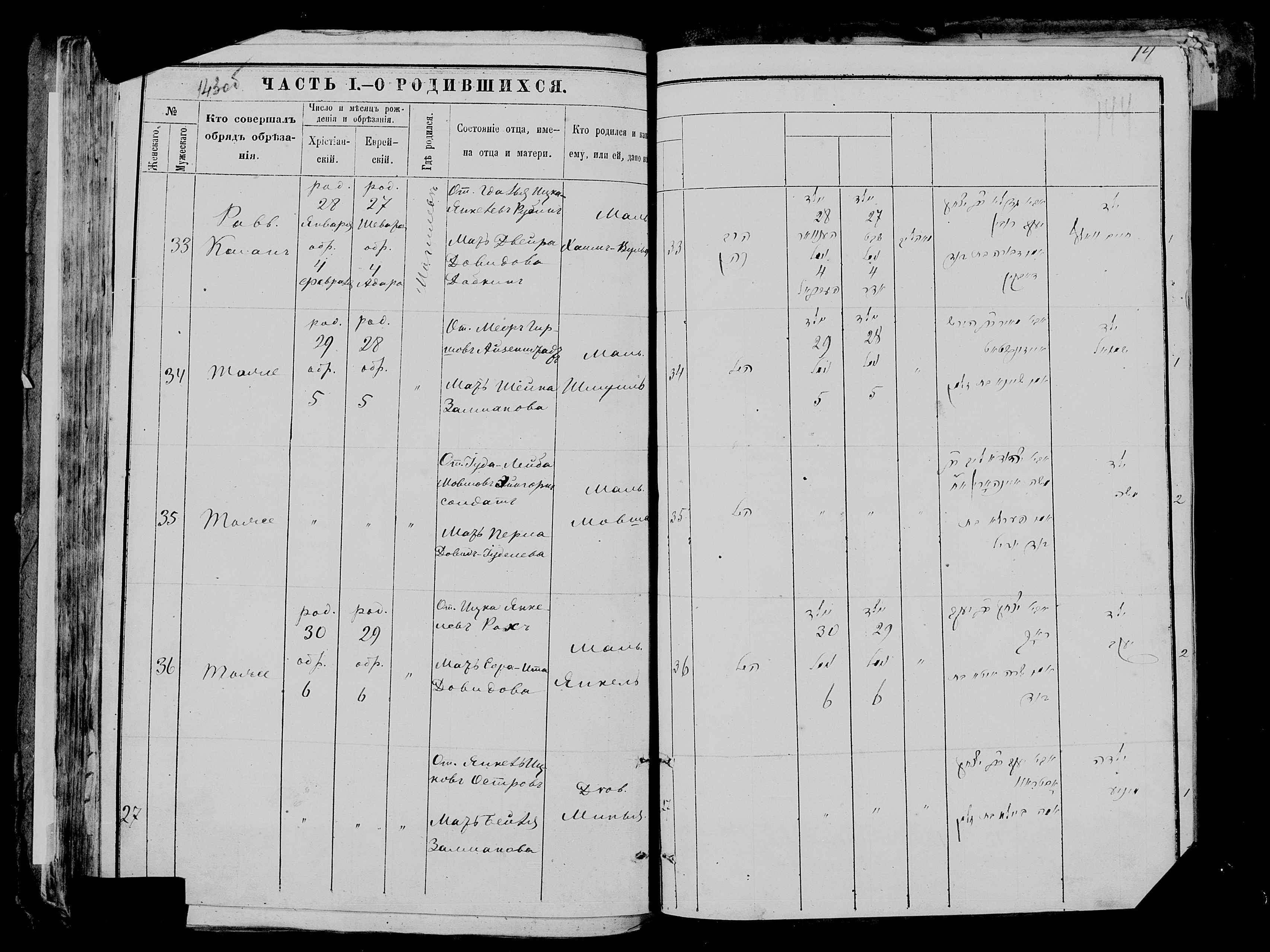 Минья Острова 6 февраля 1880, запись 27, пленка 006677481, снимок 1030