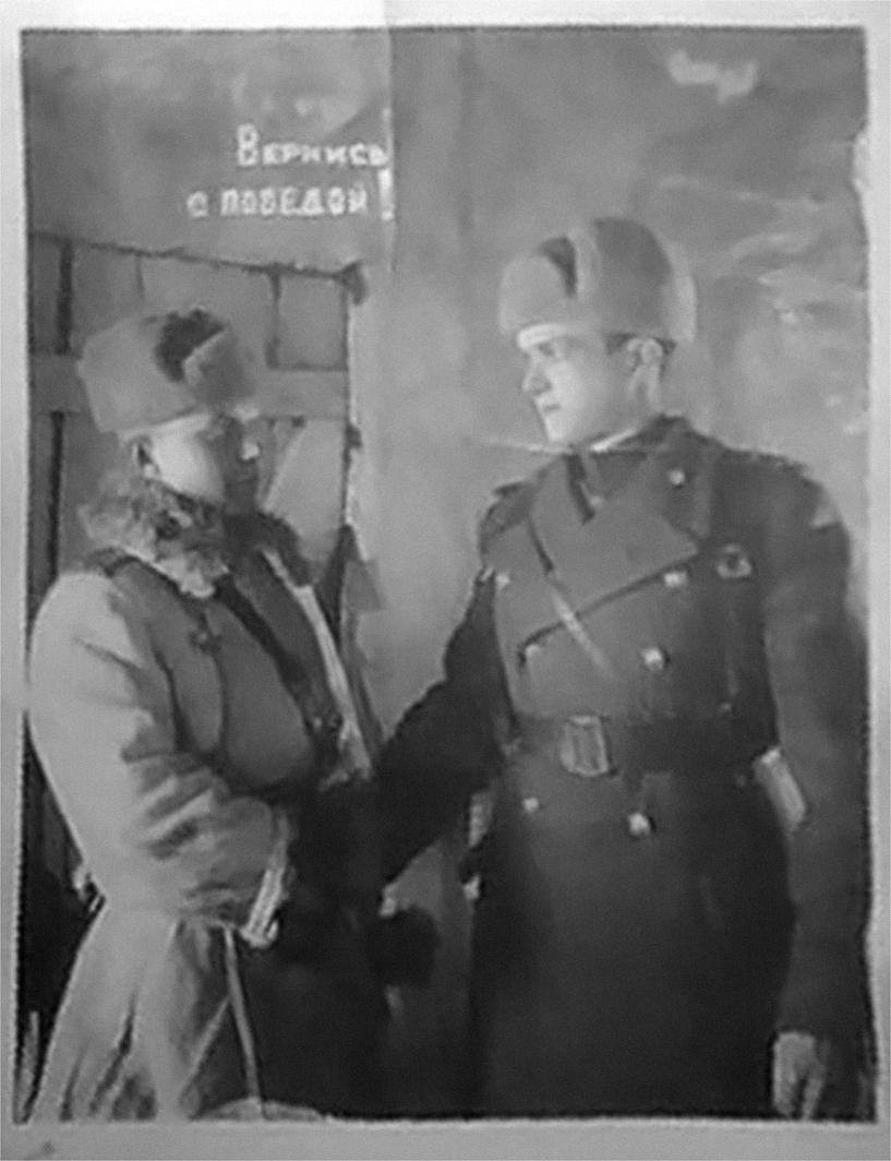 Израиль Лейбович Каликин (справа), отец Давида Каликина_война