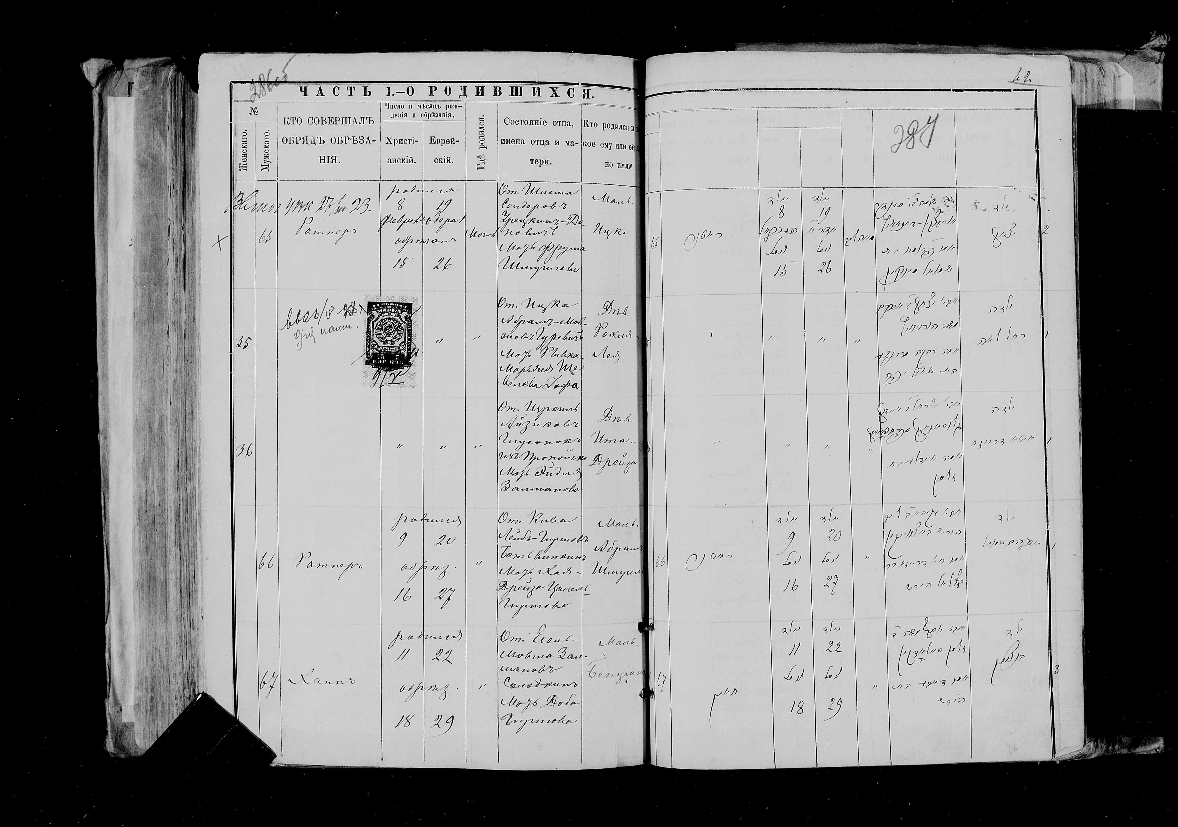 Ита-Дрейза Глусонок 15 февраля 1889, запись 36, пленка 007766484, снимок 135