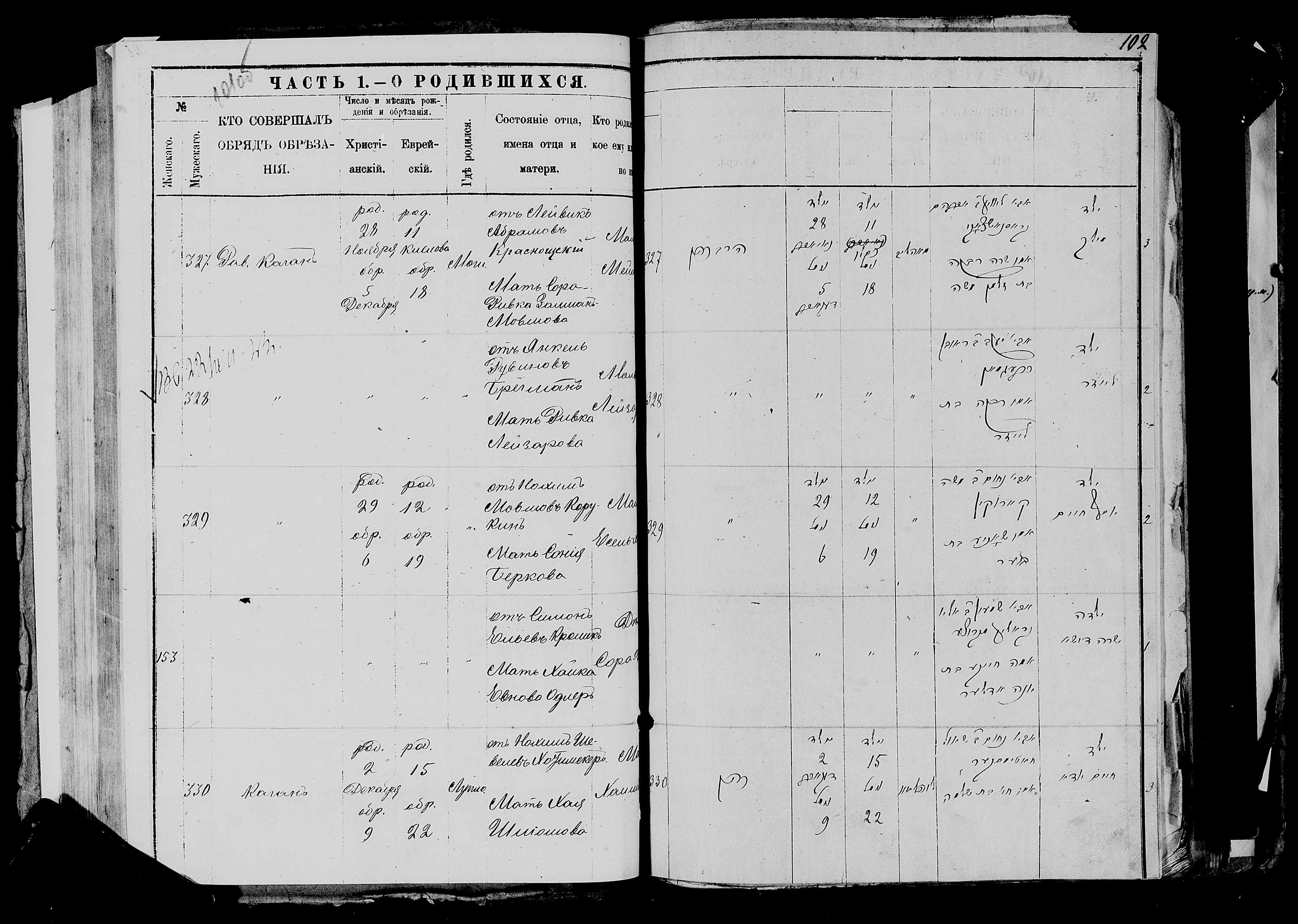 Хаим-Юда Нохимович Хотимскер 2 декабря 1883, запись 330, пленка 007766483, снимок 229