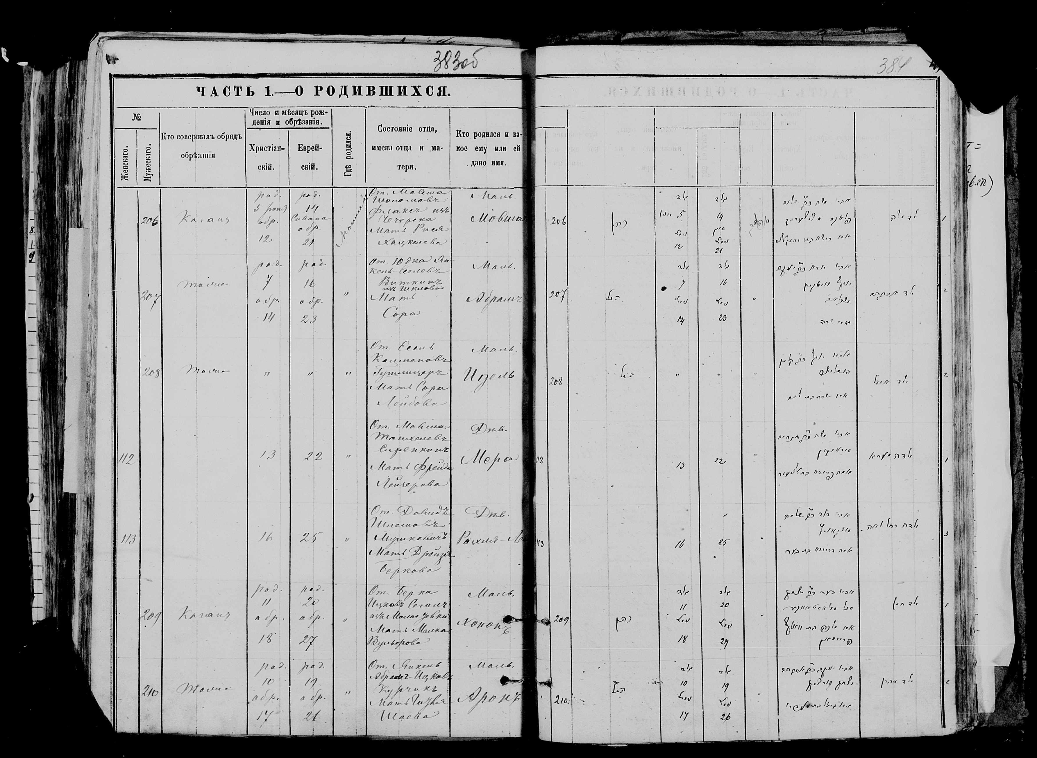 Арон Янкелевич Курчик 10 июня 1875, запись 210, пленка 007766481, снимок 55