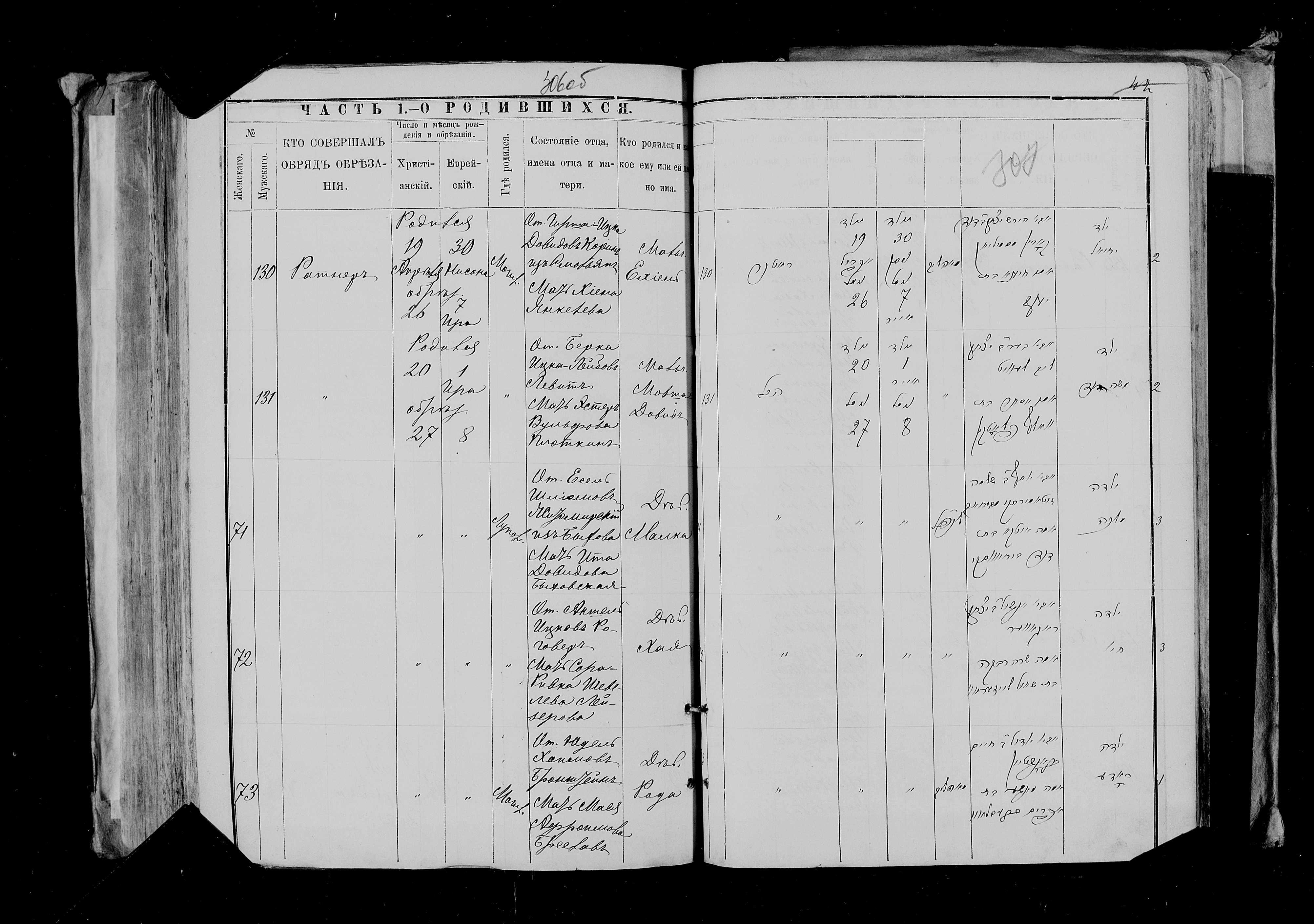 Малка Еселевна Житомирская 20 апреля 1889, запись 71, пленка 007766484, снимок 156