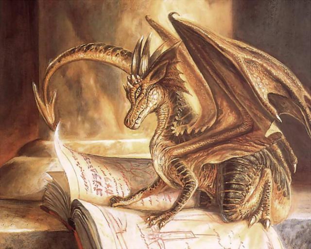 Дракон читает книгу-1