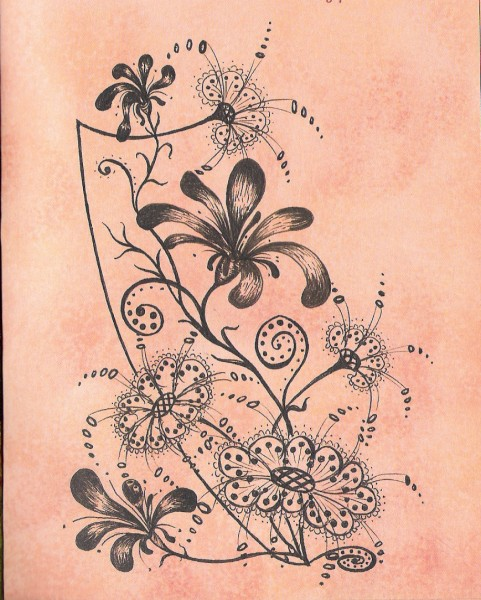 цветочная фантазия антик