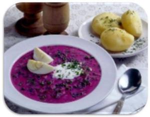 Holodny`i` borshch iz marinovannoi` svecly`