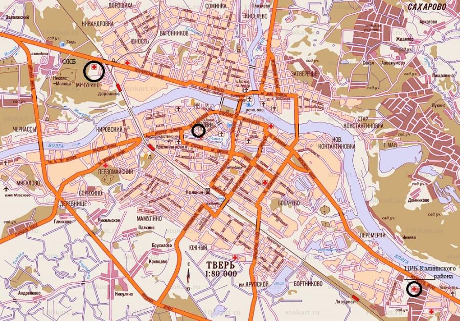карта-Твери
