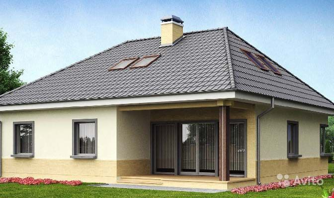Четырехскатные крыши домов фото