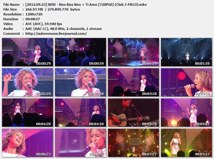 [2012.09.23] BENI - Kiss Kiss Kiss + Ti Amo [720P60] (Club J-MELO).mkv