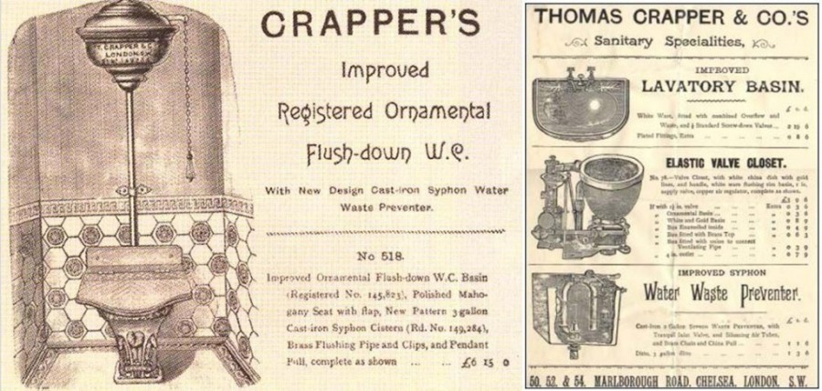 "thomas crapper The thomas crapper ""venerable"" bowl is a floor mount, rear outlet toilet that is intended for european plumbing rough in requirements."