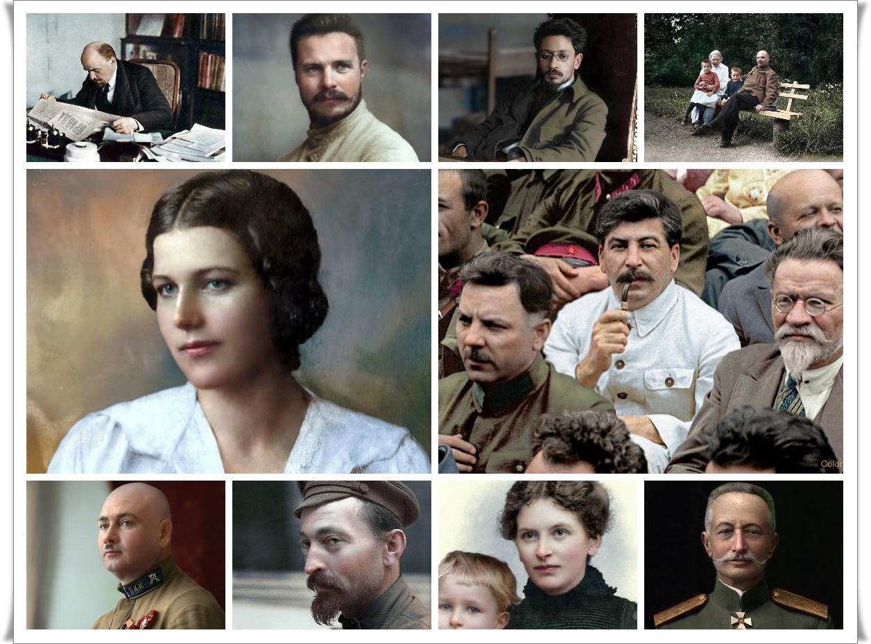 Герои Великой Октябрьской Социалистической революции в цвете (42 фото)