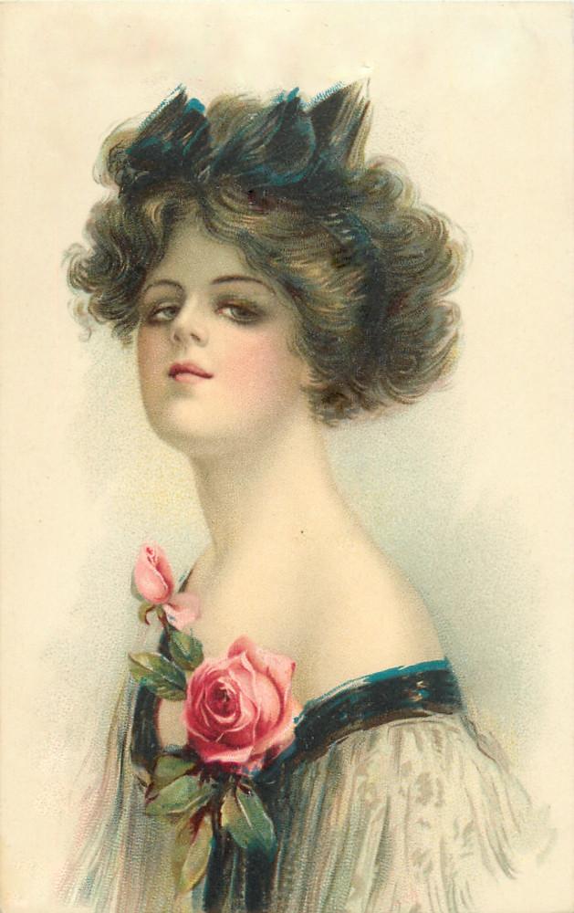 Ретро открытки женщин