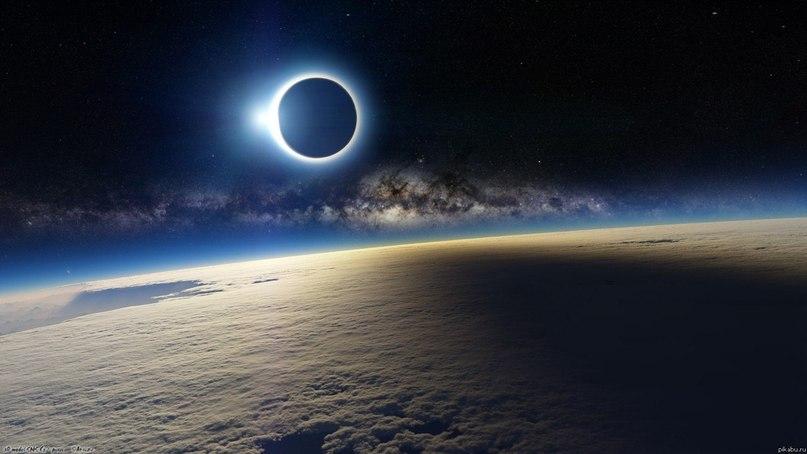 Солнечное затмение с борта международной космической станции