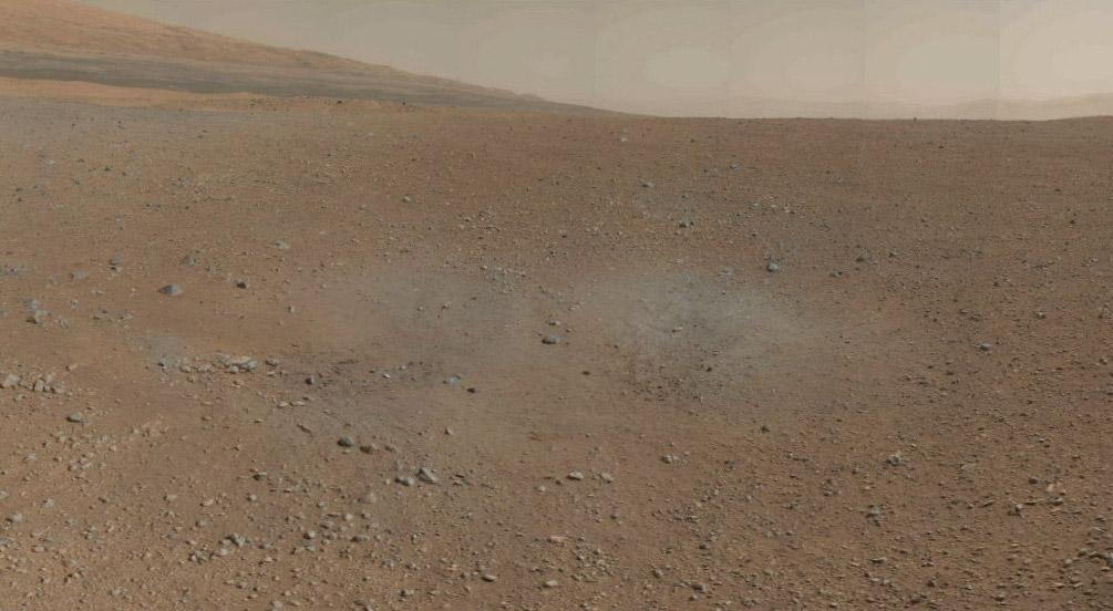 Фрагмент панорамы кратера Гейла. Фото NASA/JPL