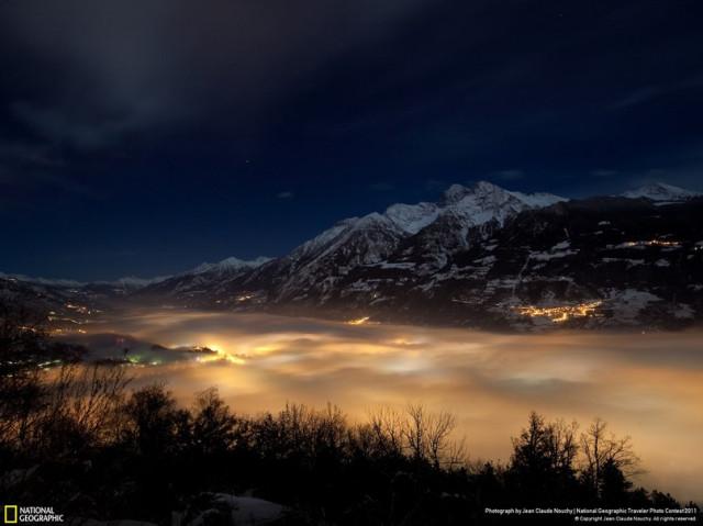 Туман над городом Аоста