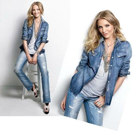 Baonilha jeans com jeans Cameron Dias