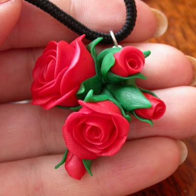 Роза из полимерной глины своими руками видео