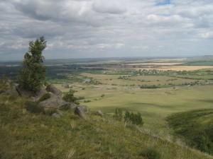 Вид с горы на Солоновку
