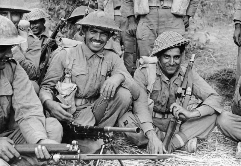 Индийские войска в Бирме 1944
