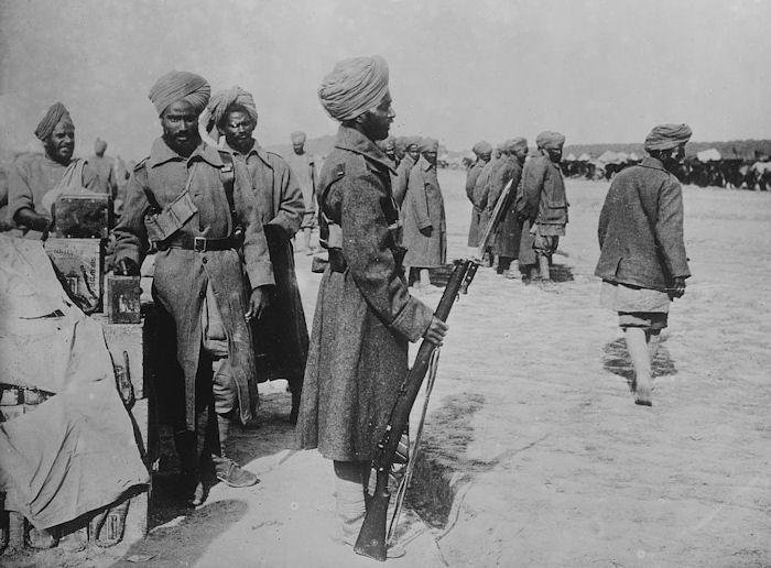 Индийские солдаты на германском фронте 1915 год